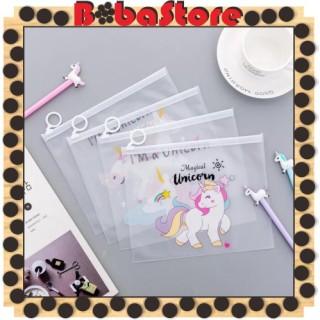 Bobastore - R079 Tas Kosmetik Motif Pink Panther Unicorn Transparan ALU Pouch import Murah Cute Korea thumbnail
