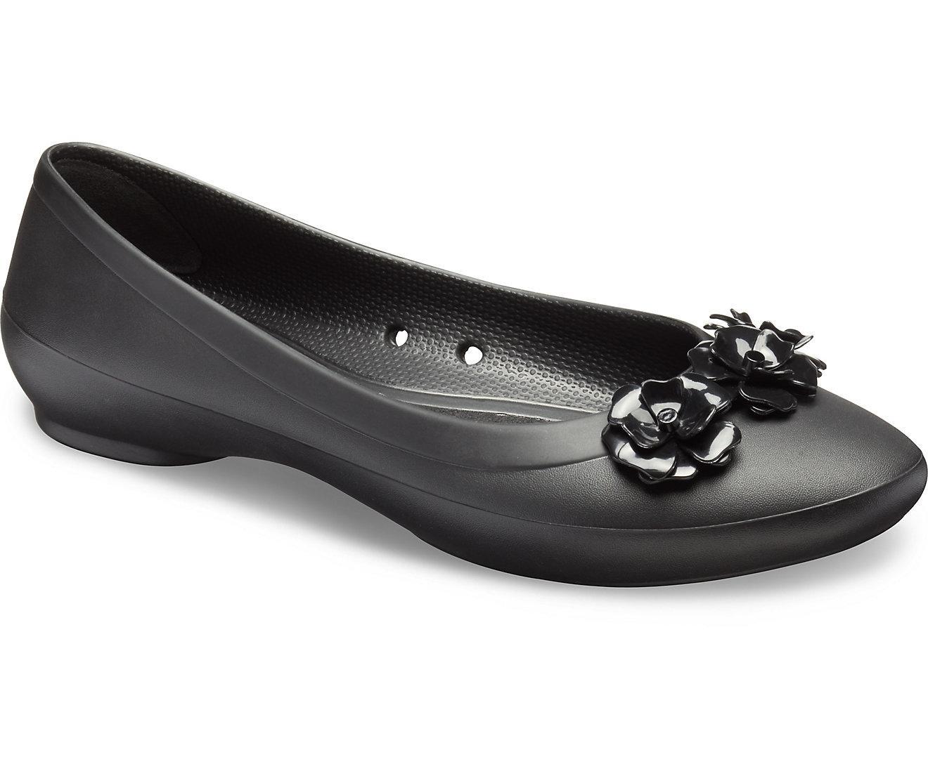 de5335f693af Crocs Line Flower Flat Sandal Wanita - Hitam