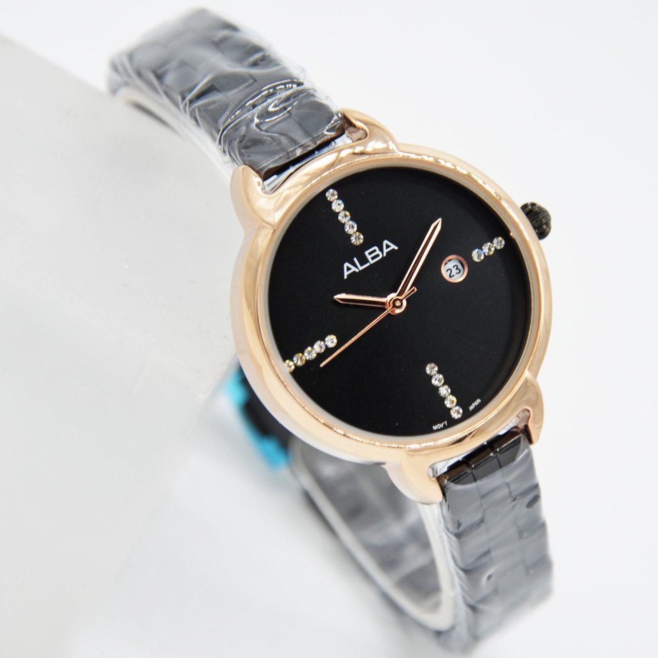 Jam Tangan Fashion Wanita Alba AH7943X1 - Active Date   Tanggal Aktif -  Free  Gratis 5d809b6586