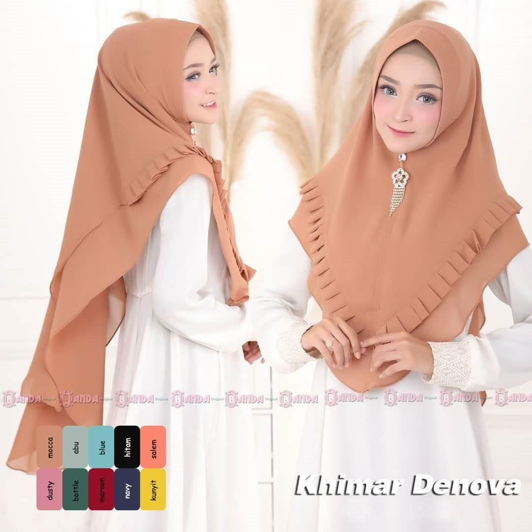 Deanova Khimar Series Varian Moka hijab terbaru / hijab instan syari / promo hijab terbaru / khimar oneto