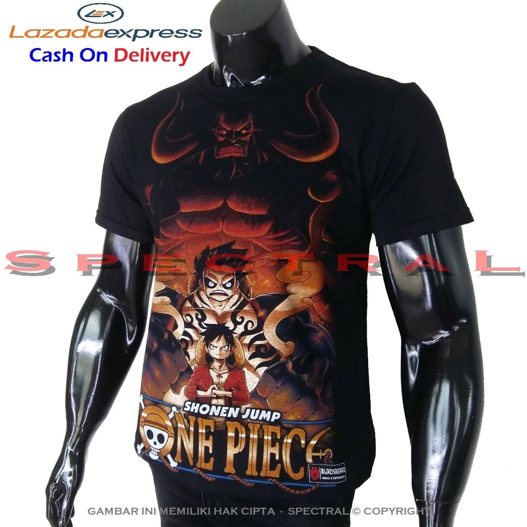 ★ Spectral ★ Pure Cotton Combed T-Shirt ★ Gambar Luffy Devil Gear 3  One Piece Bajak Laut  ★