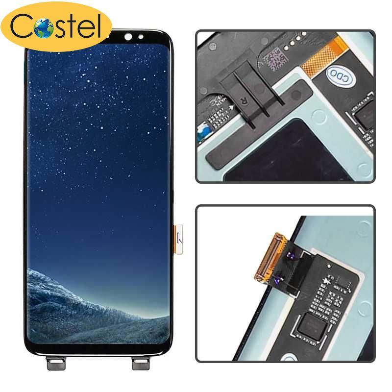 Costel For Samsung Galaxy S8 LCD Display Touch Screen Digitizer Bezel Frame
