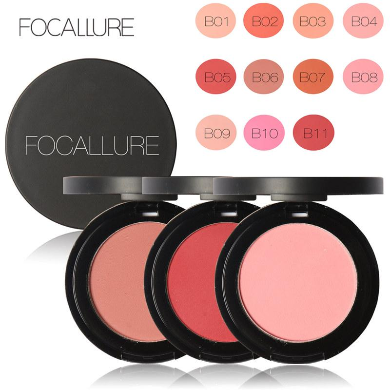 Focallure Makeup Blusher Long Lasting Shimmer Pigment Minerals Face Contour Bronzer Blush On Makeup Palette Cosmestics By Oxy Skin Care.