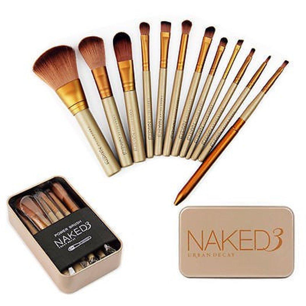 JBS Naked Brush Kuas kaleng Halus Dan Tebal Kuas Makeup Brush 12 Set - Make Up