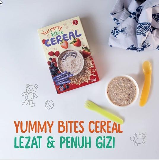 Arsyad Babyshop - Yummy Bites Cereal Strawberry Raspberry & Blueberry Muesli - Makanan Bubur Bayi By Arsyad Babyshop.
