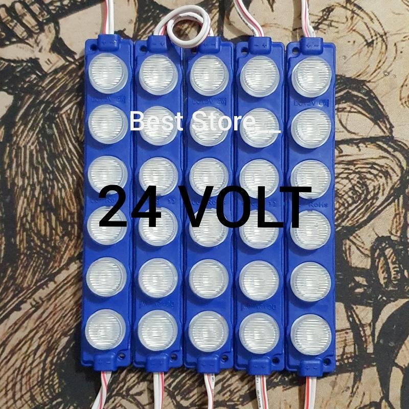 (1 SET 5 PCS) Lampu LED Modul 6 Mata Besar 6 Watt 24 VOLT
