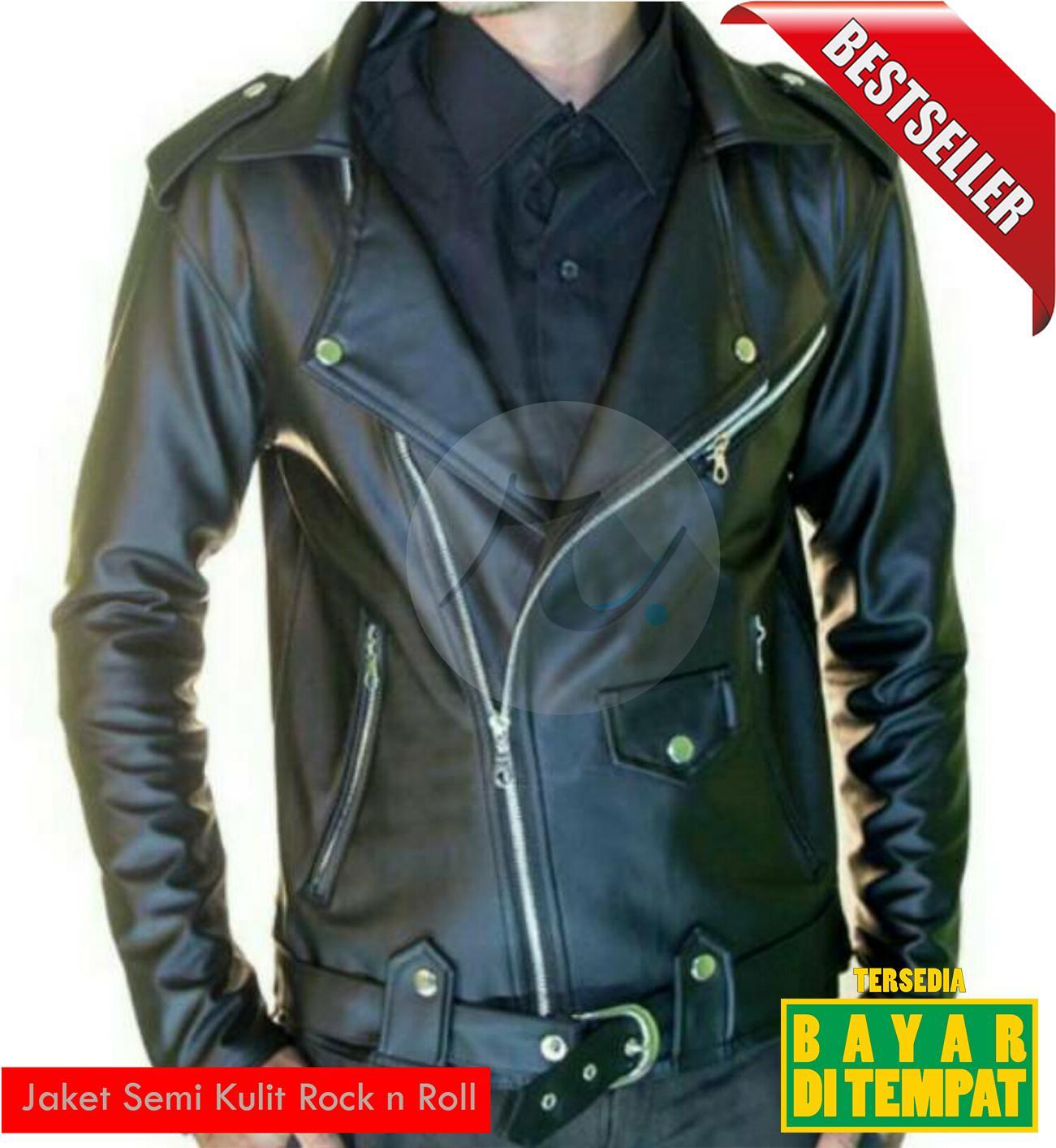 Jaket Semi Kulit Ramones Pria