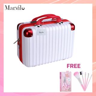 Extra Disc dan Free Gift Marvilo Tas Koper Travel Mini Multifungsi Suitcase Kosmetik Organizer Make Up Koper MUA Trendy 14 Inchi thumbnail