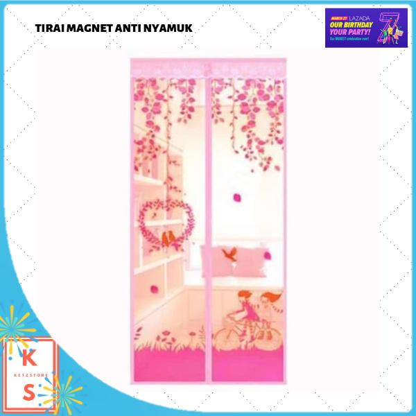 Aiueo Magic Mesh Tirai Magnet Anti Nyamuk Motif Couple And Bird - Tirai Pintu Magnet - CoklatIDR23433. Rp 23.499