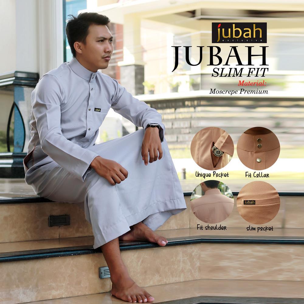 Jubah Muslim Pria Slimfit Baju Muslim - Slimfit (kancing) By Quality Hijab.
