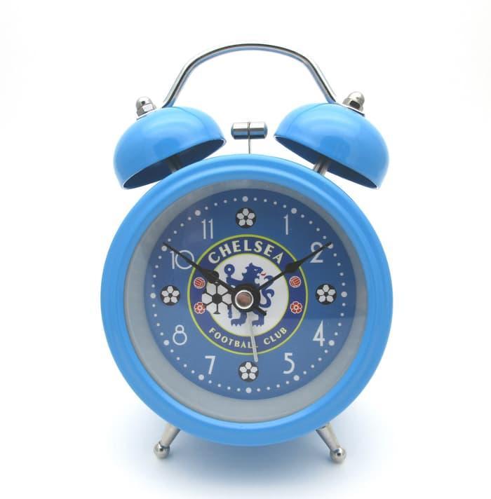 Jam Weker Meja Alarm Logo Bola Chelsea