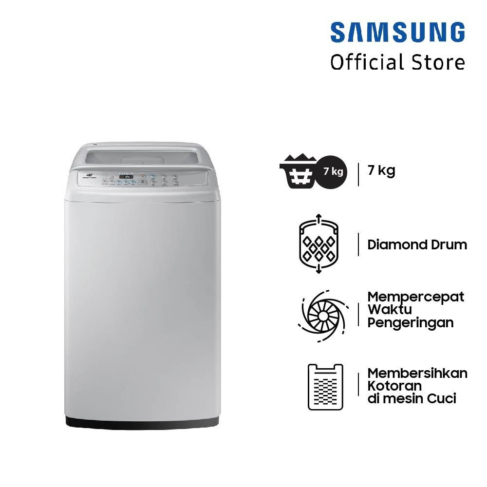 Samsung Mesin Cuci Top Loading dengan Diamond Drum, 7 Kg - WA70H4000SG