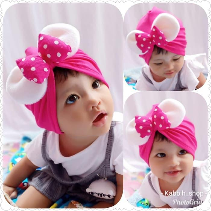 turban pita minnie mouse baby   bayi   kids   anak   kupluk   topi 1105ed3efa