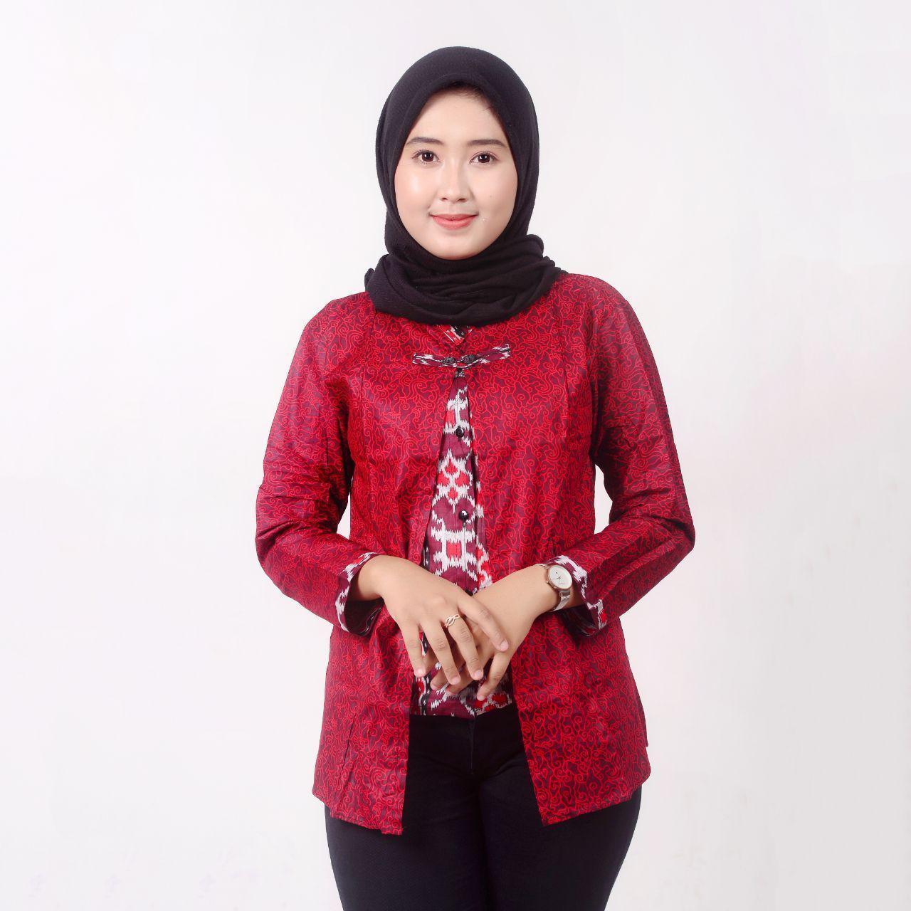 Batik Blouse Batik Blus Batik Baju Batik Batik Kerja Baju Batik Wanita Baju Atasan Wanita Baju Batik Atasan Model Baju Batik Baju