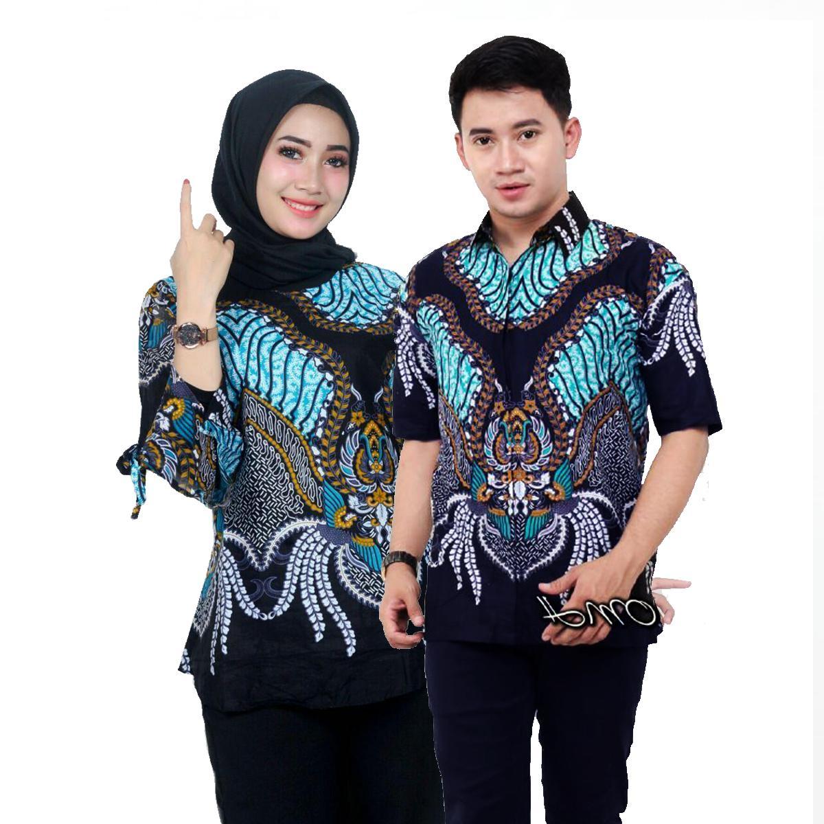 Baju Batik Couple / Couple Batik / Baju Muslim Wanita Terbaru 2019 / Batik Sarimbit / Baju Batik Modern / Batik Kondangan / Batik Keluarga / Batik Pekalongan Tawon