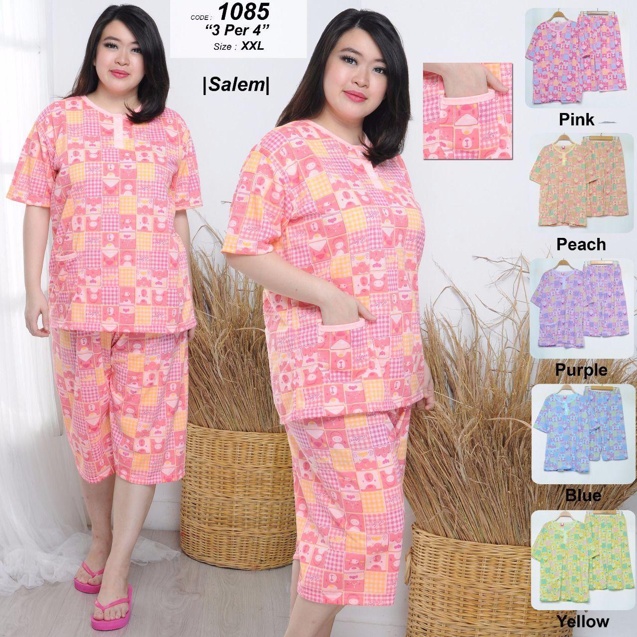 COD Lilipop Baju Tidur Wanita Pendek Jumbo Babydoll Piyama Sleepwear Bigsize 1085