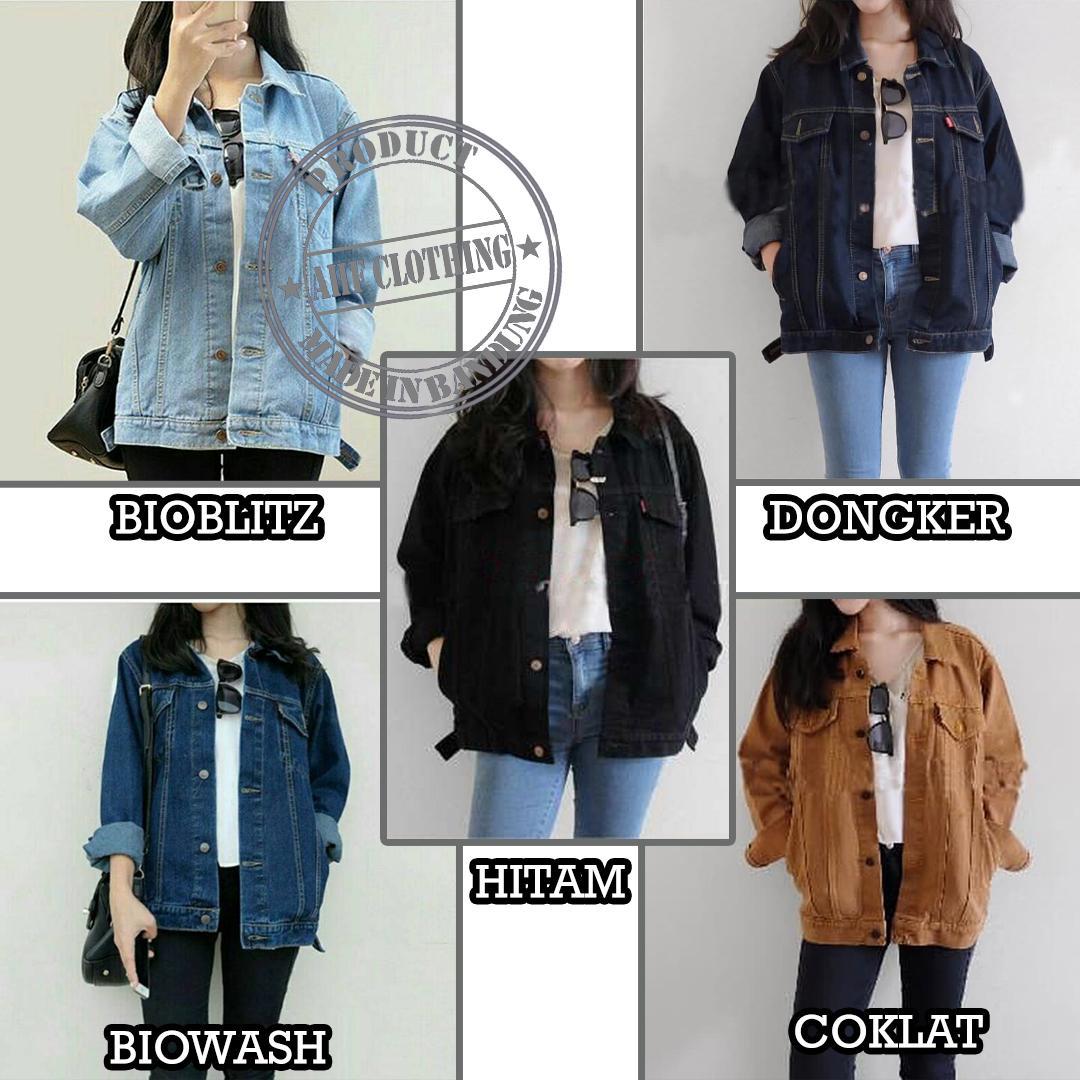 950 Model Jaket Wanita Bahan Jeans HD Terbaru