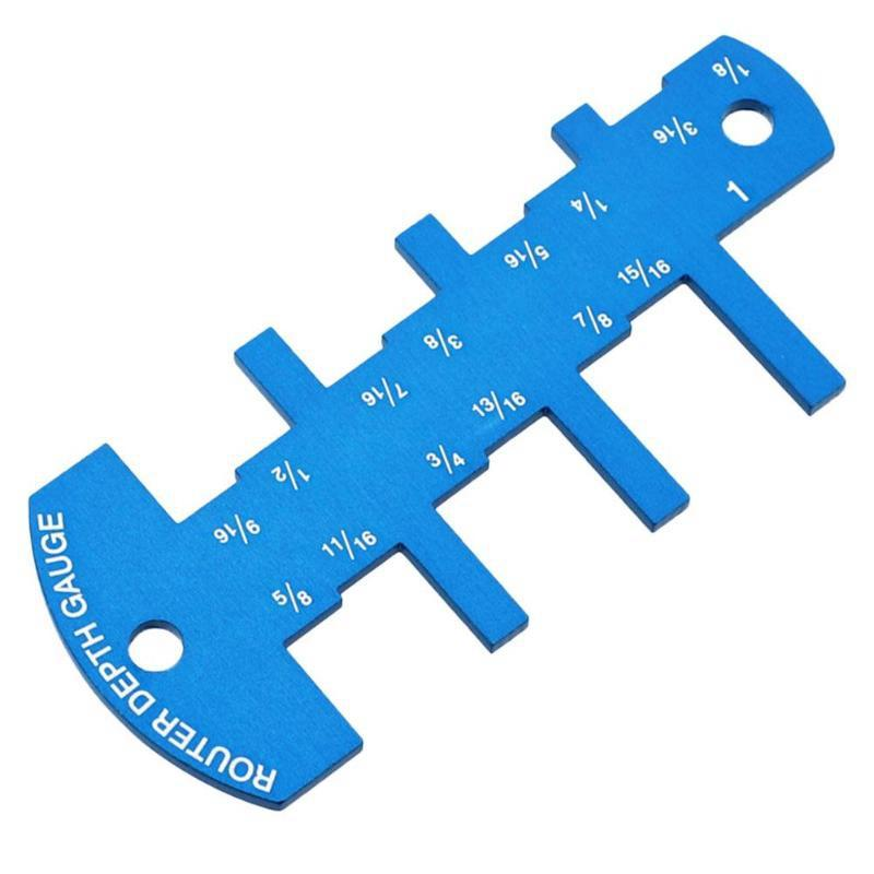 1/8 To 9/16 Inch Woodworking Router Table Saw Metric Caliper Aluminium Alloy Thickness 3mm Router Depth Gauge