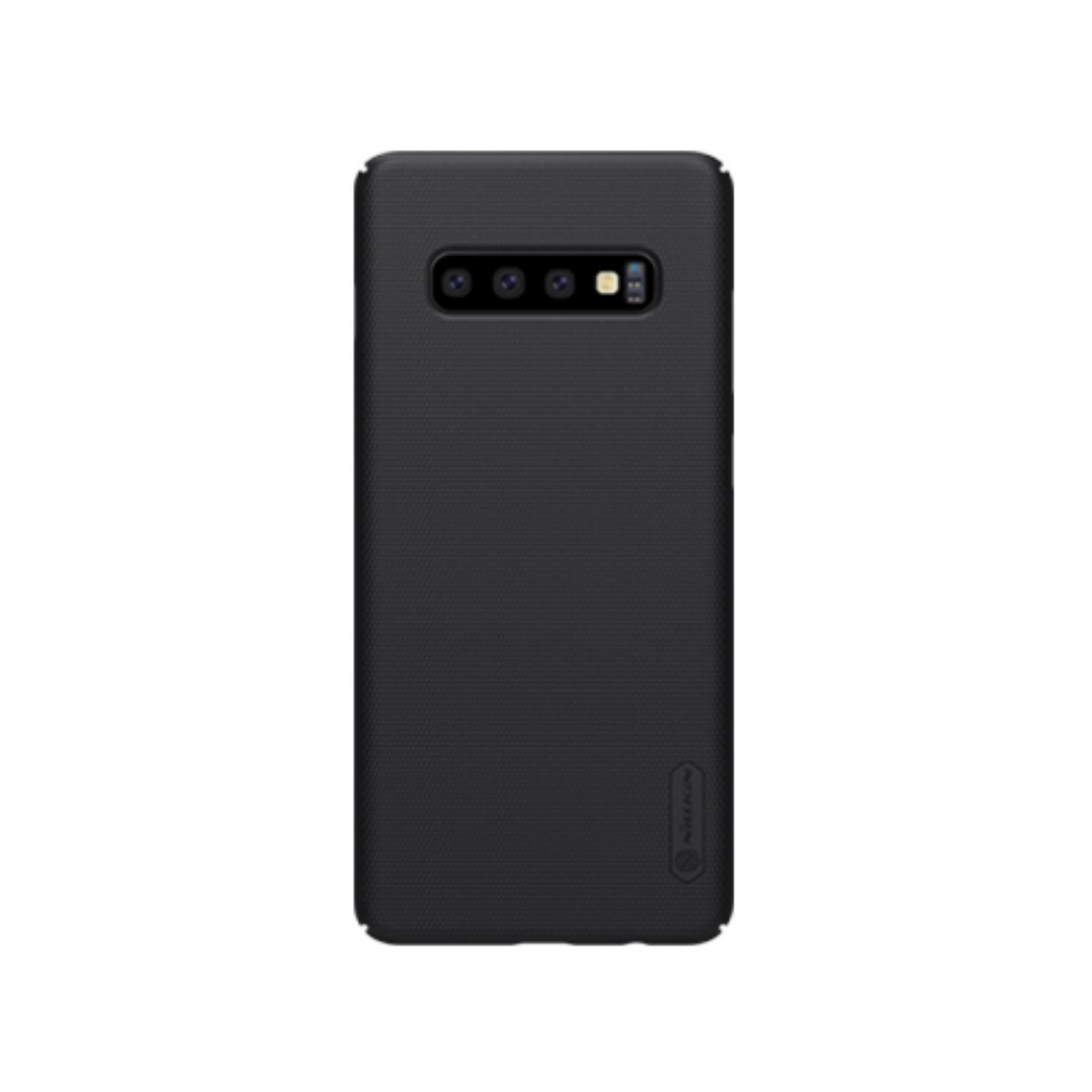 Nillkin ORIGINAL Super Frosted Shield Samsung Galaxy S10 Plus - Black/Hitam Hardcase Backcase Backcover