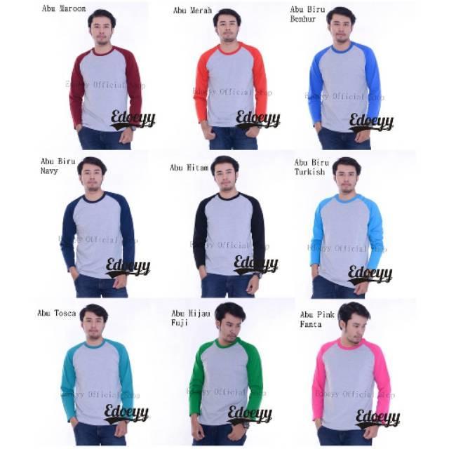 Edoeyy Raglan Lengan Panjang/Baju Raglan/Reglan Polos/Kaos Reglan/Baju Cowok/kaos distro/T-ShirtABU NAVY SIZE XL () (ABU NAVY SIZE XL)