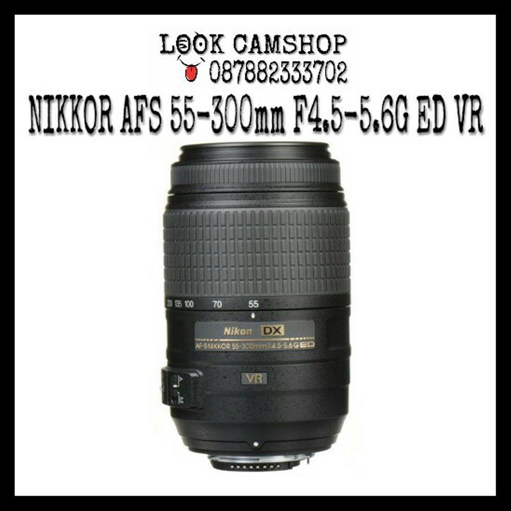 LENSA KAMERA DSLR NIKON NIKKOR AF-S 55-300 55-300 F4.5-5.6G ED VR FOR NIKON D3000 D3100 D3200 D3300 D5000 D5100 D5200 D5300 D7000 D7100 D7200 D80 D90