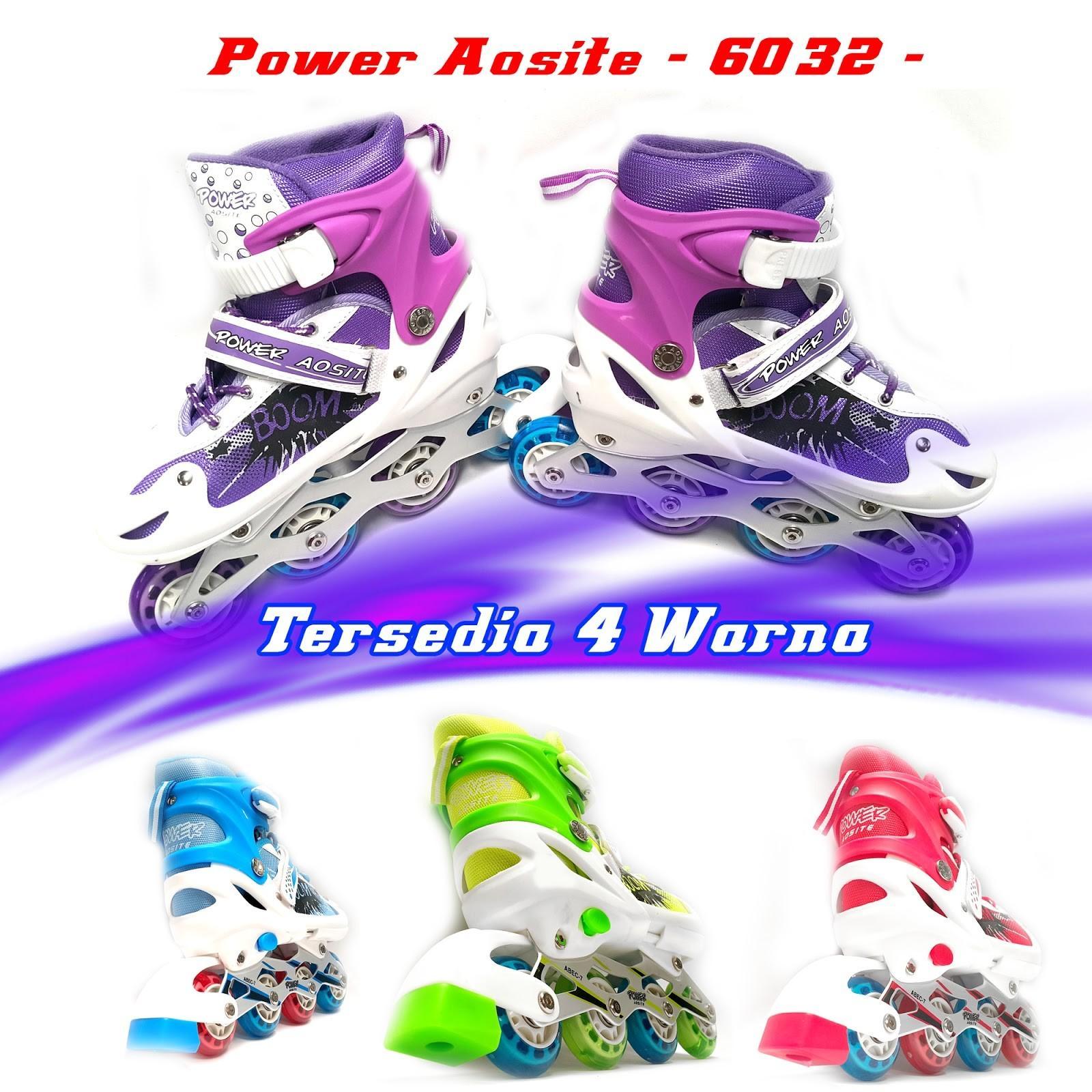 SEPATU RODA INLINE SKATE POWER AOSITE 6032 RODA PVC KARET BARANG IMPOR  TERMURAH BERKUALITAS c7ab32af1f