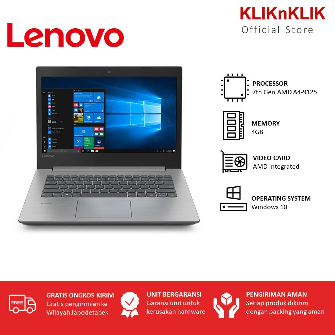 LENOVO IdeaPad 330-14AST - RAM 4GB - AMD A4-9125 - 14 Inch - Windows 10 - Platinum Grey - Laptop Murah