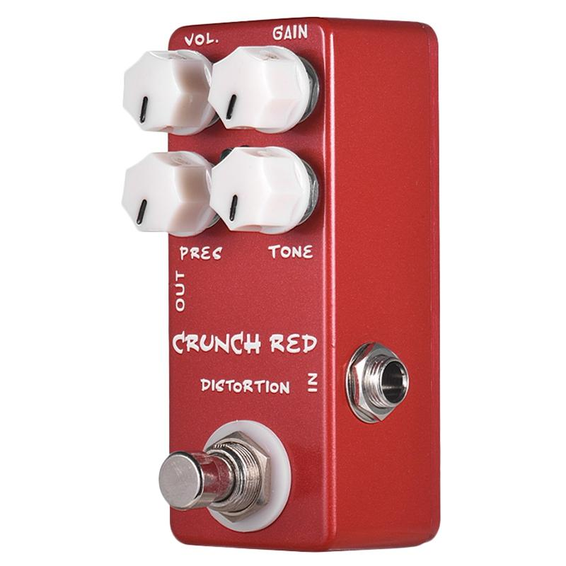 Mosky Mini Guitar Effect Pedal Mini Crunch Red Distortion Guitar Pedal True Bypass Full Metal Shell