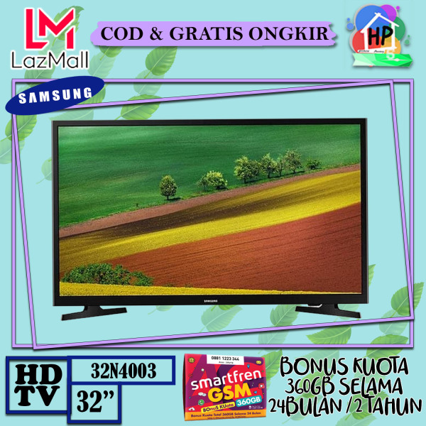 [ENGGAK PUAS ? KEMBALIKAN !!] Samsung LED TV 32 HD TV 32N4003 HD Picture Quality - USB Connection - Clean View + Bonus Smartfren 360GB [COD / GRATIS ONGKIR / GARANSI RESMI]