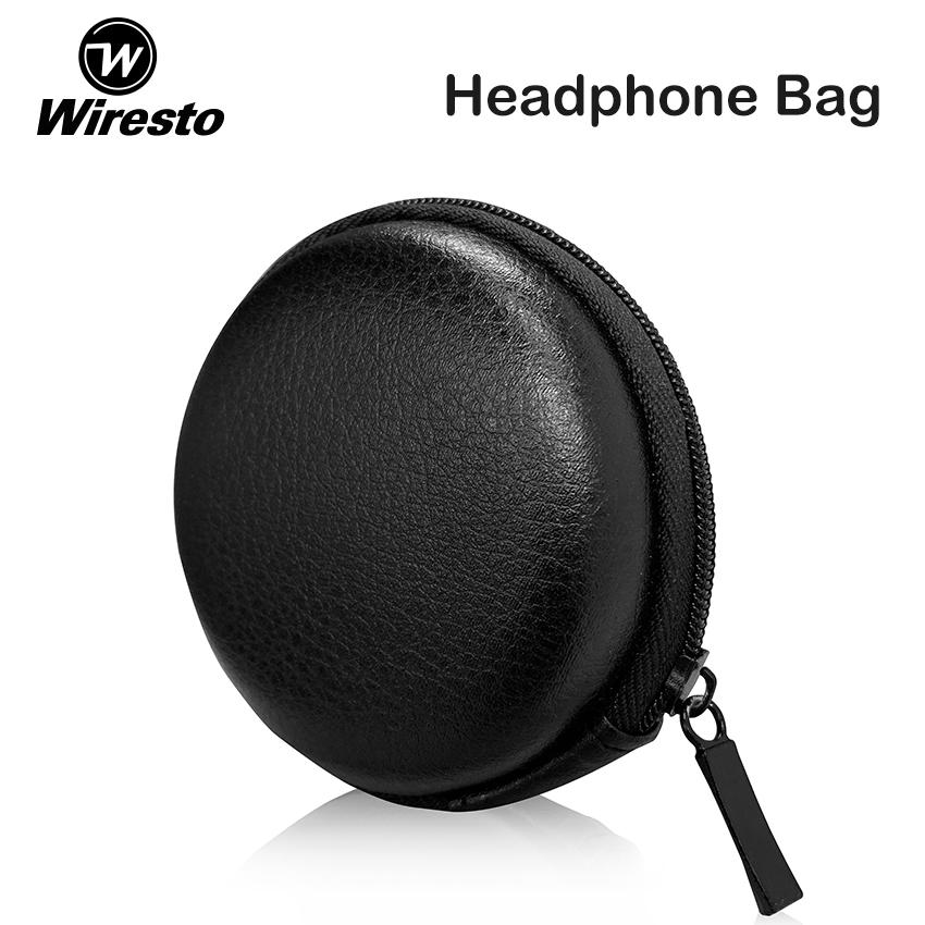 Soft Headset Bag Headphone Earbud Carrying Storage Pouch Case Earphone Zipper