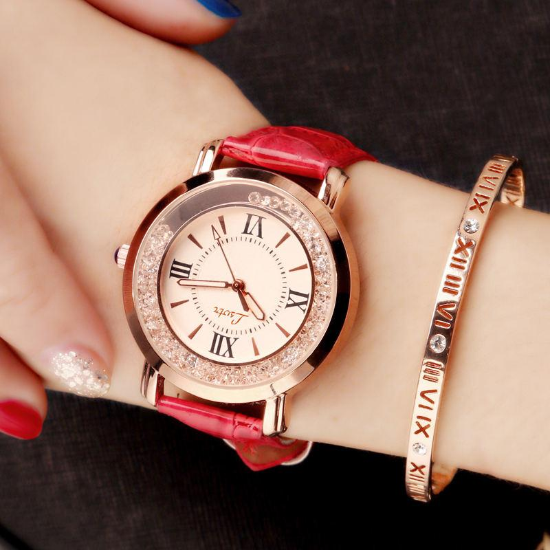 Women S Korean-Style Fashion Car Hire Rhinestone Quartz Watch Jam Tangan Wanita Malaysia