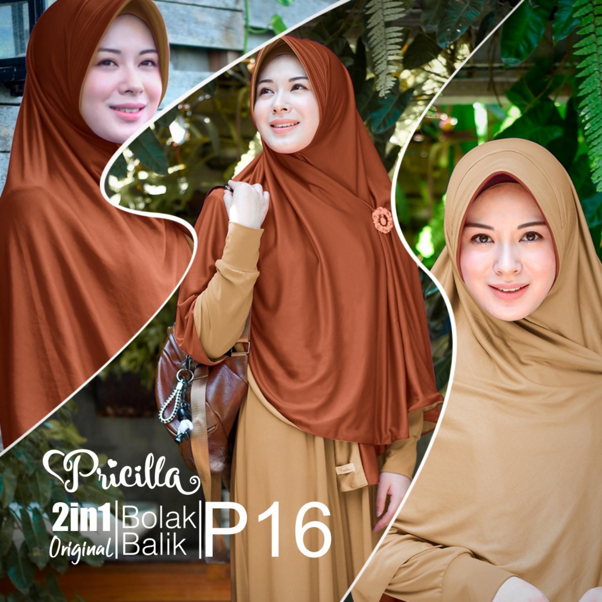 Zannah Hijab Jilbab Bolak Balik Dua Warna 2 in 1 Jumbo Syari Panjang Fashion Muslim Kerudung Instan Terbaru Model Sekarang Untuk Wanita Muslimah Jaman Now
