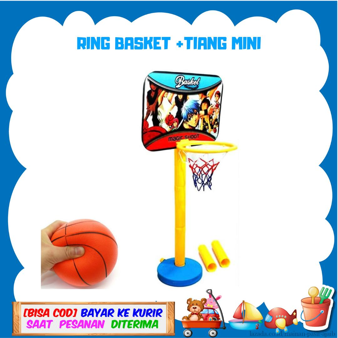 Ring Basket 1 Set Tiang Basket Mini/1 Paket Mainan Basket Murah By Mainan Pasir Ajaib.