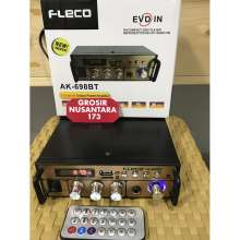 Amplifier FLECO AK-698BT ( Bluetooth) Stereo Karaoke + Mp3 player + FM Radio ( Bluetooth / Usb / MMC Card ) Audio Power Amplifier Bluetooth Fleco AK-698BT/ Amplifier Fleco murah/ Amplifier bluetooth AK-698BT