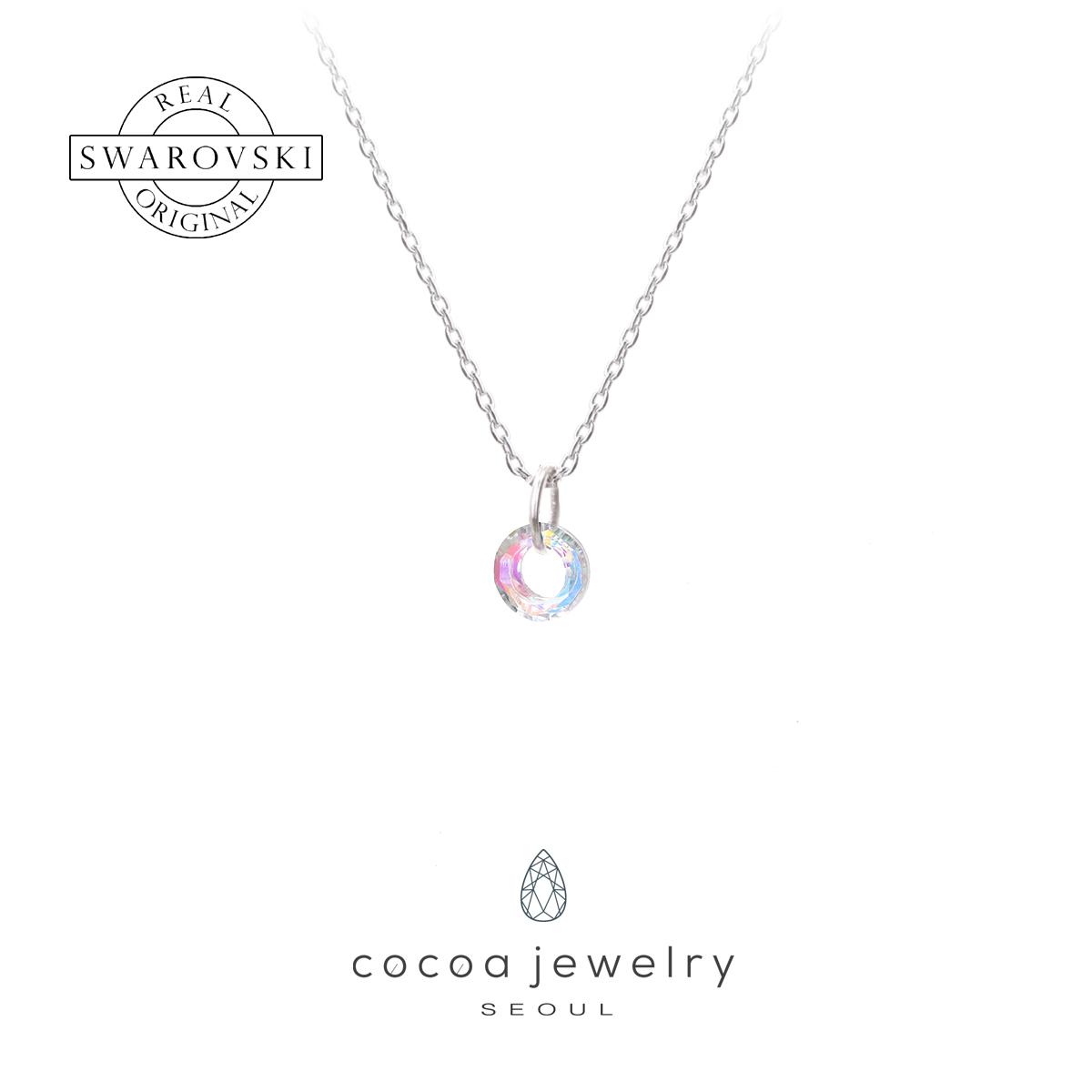 cocoa jewelry Kalung Wanita Korea - Small Dainty Round Violet Color