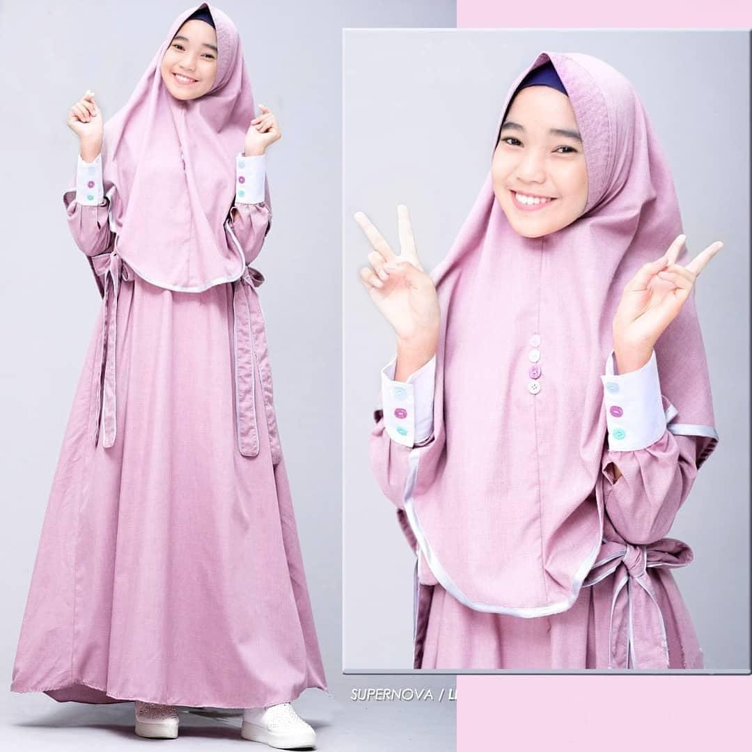 Maya Syari Kids Gamis anak Perempuan 9 - 9 tahun Set Kerudung / Baju  Gamis Anak Wanita / Baju Gamis Syari Anak