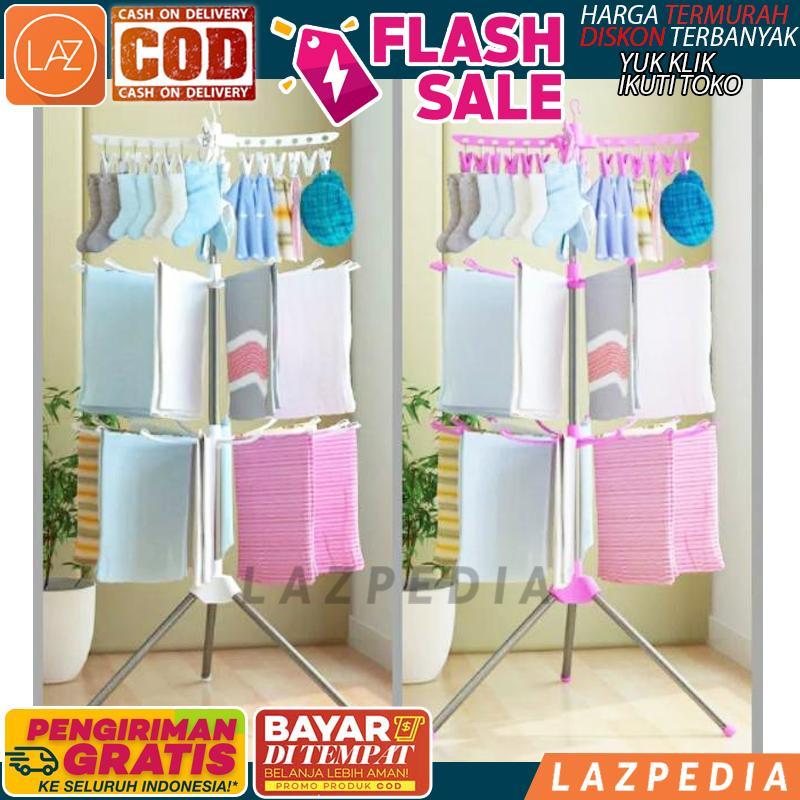 BYR DITEMPAT - HRG PROMO!!!!! - [MH X8] Foldable Clothes Drying Airer / Rak Jemuran Lipat Megahome / Jemuran Model Menara / Gantungan Handuk