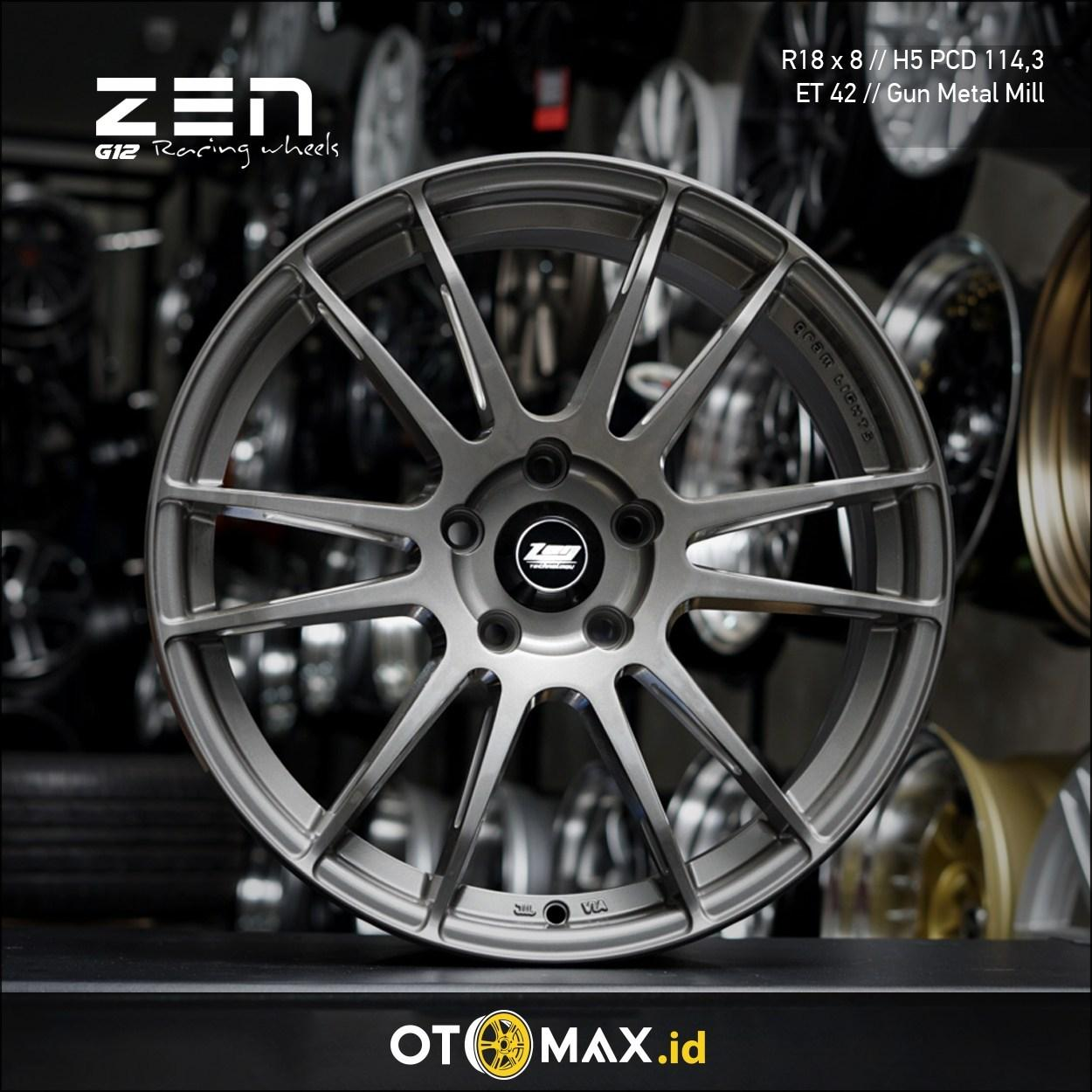Velg Mobil Zen G12 Ring 18 Gun Metal Mill