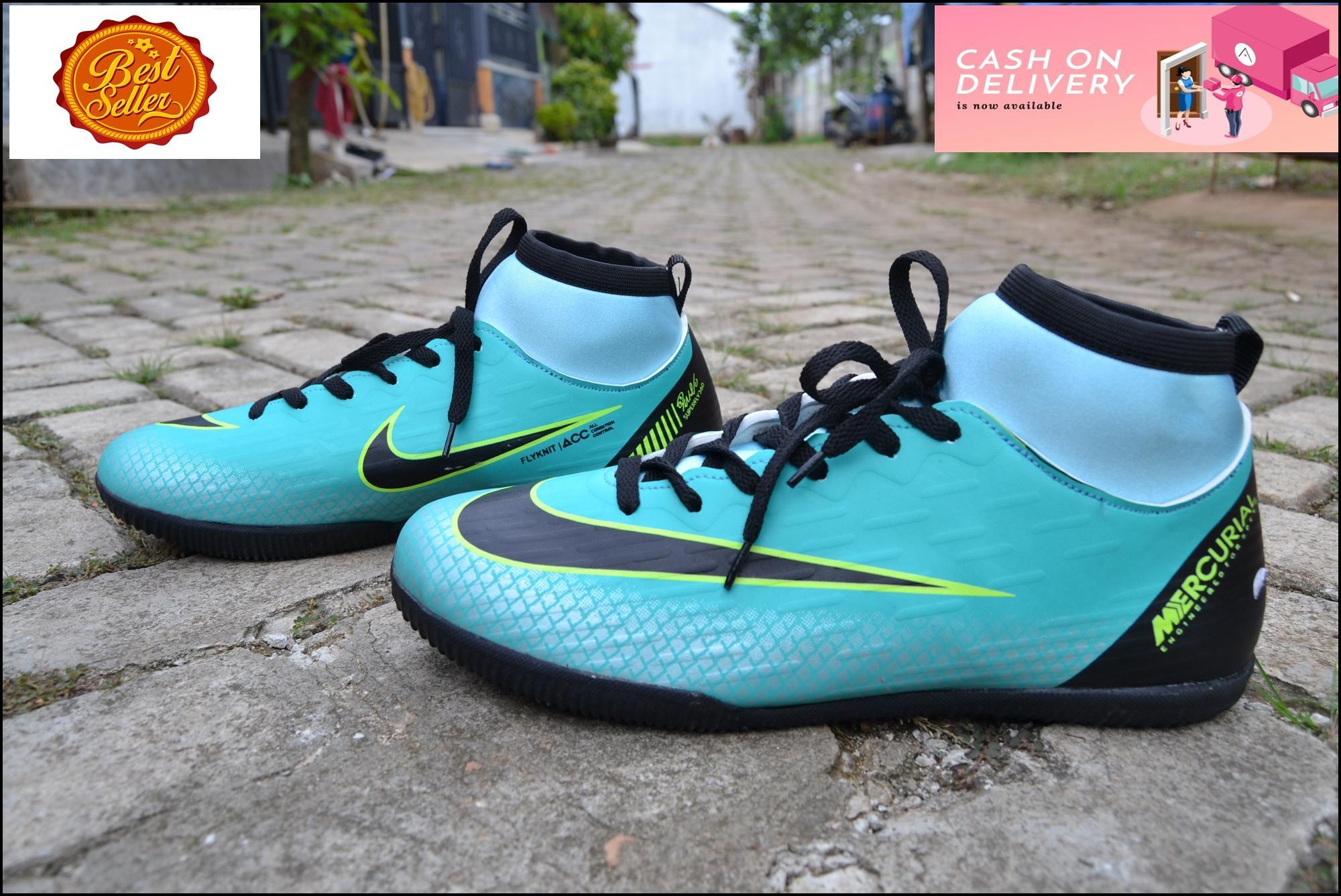 Sepatu Futsal Pria Dewasa Nik Mercurial Boots Termurah Warna Tosca 7ccd06f163