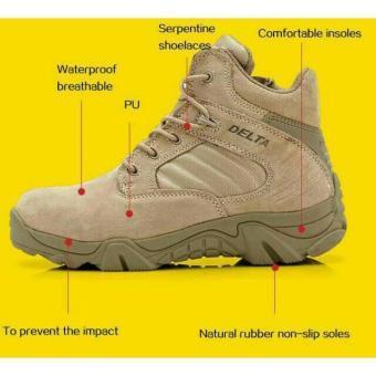 Promo Sepatu Delta Tactical Low Safety Cream Sepatu Gunung Hiking Touring Adventure
