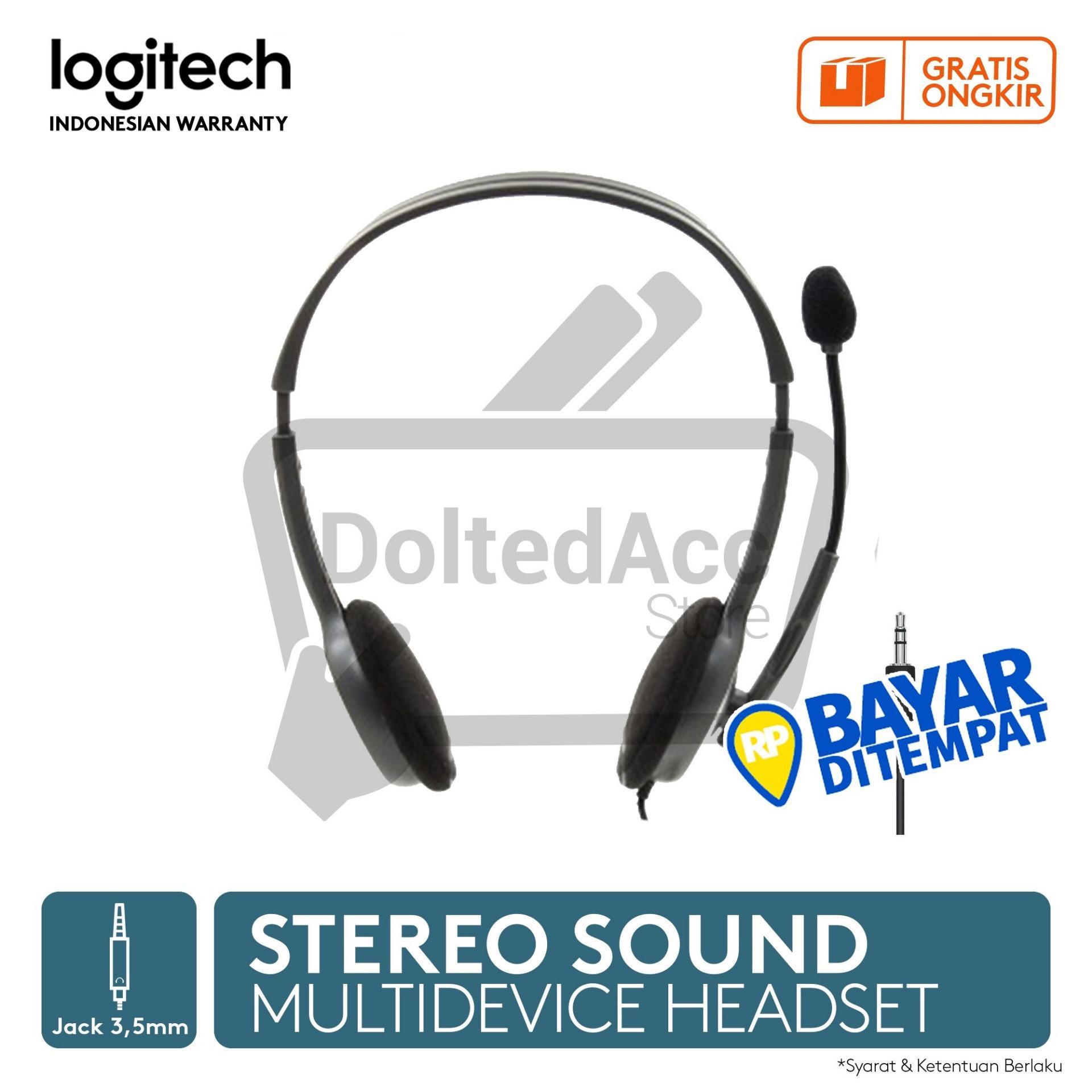 Logitech Stereo Headset H111- Hitam