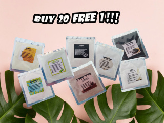 [20 Free 1 pcs ] 5gr Face Organic Mask Masker Organik Masker Kecantikan Spirulina thumbnail