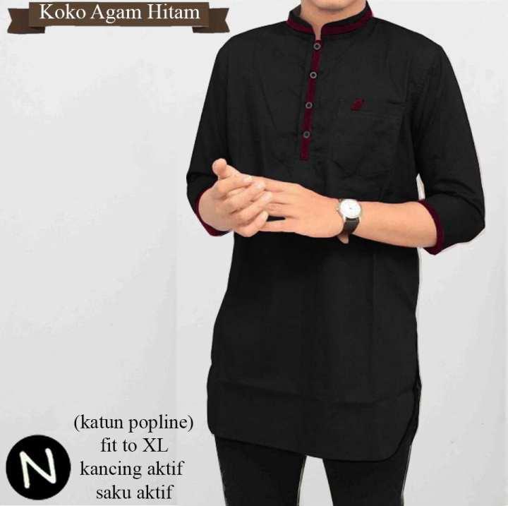 Baju Muslim pria koko agam: Membeli jualan online Kemeja