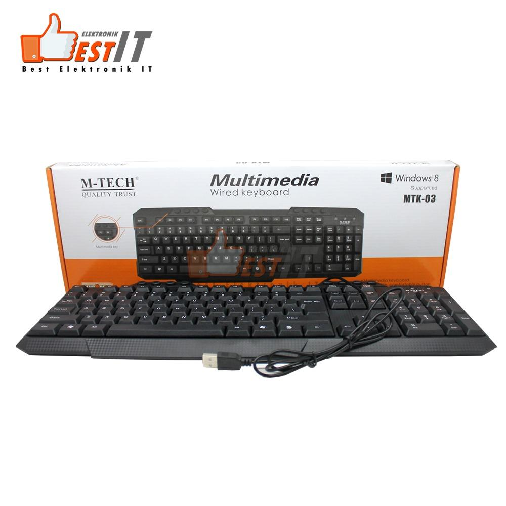 Keyboard Komputer Pc Laptop Multimedia Fullsize Mtk 03 By Best Elektronik & It.