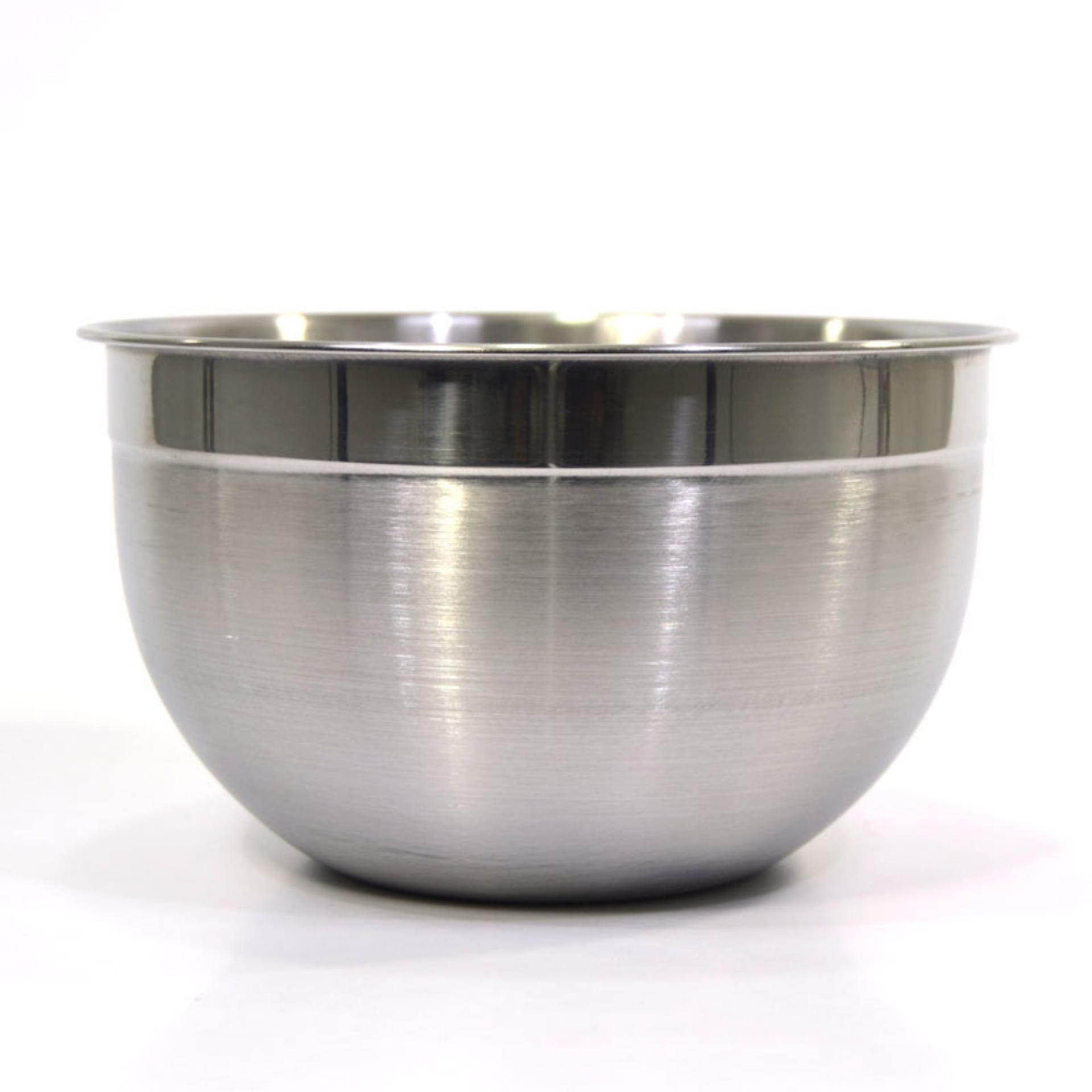 Supra Stainless Steel Mixing Bowl 21 Cm / 3.5 Liter By Bursa Dapur Store.