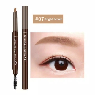 TERMURAH 100% ORIGINAL - DNM Automatic Eyebrow Pensil Alis Anti Air etude Pensil Alis Putar Drawing- Eklipse thumbnail