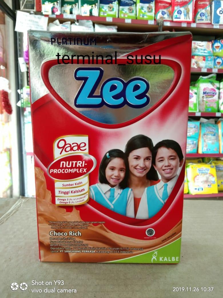Susu Zee Platinum. Choco Rich. 350 Gram. Usia 3-12 Tahun