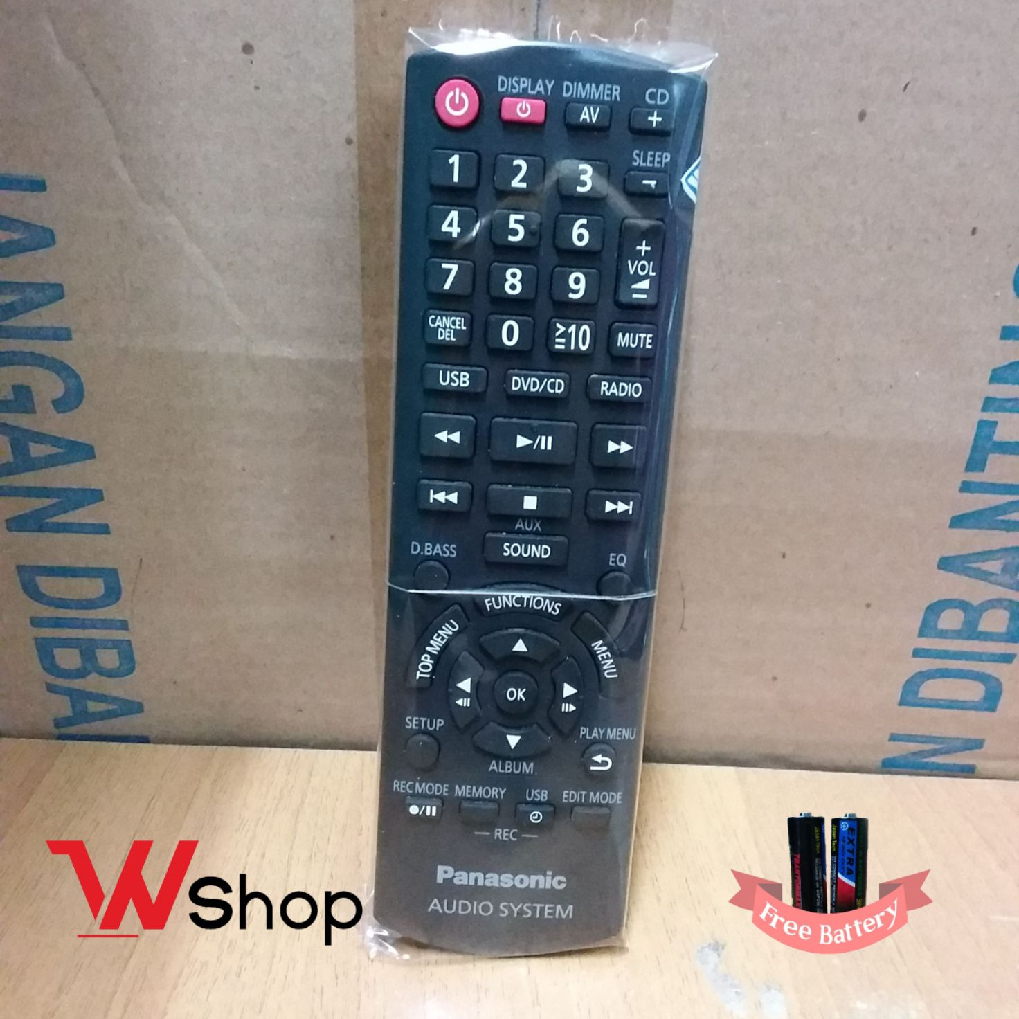 REMOTE/REMOT AUDIO SYSTEM USB PANASONIC ORIGINAL