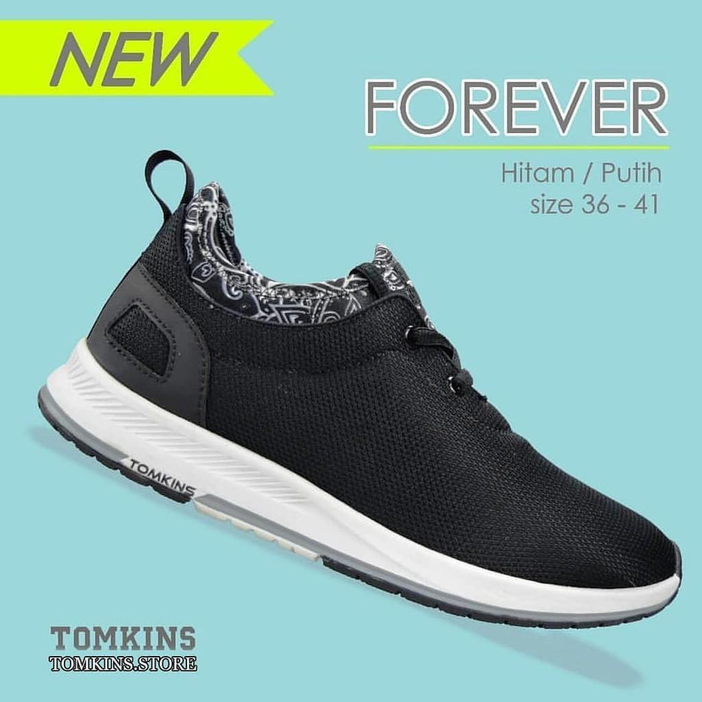 Sepatu Tomkins - Forever - Black White - Woman b5febffaea