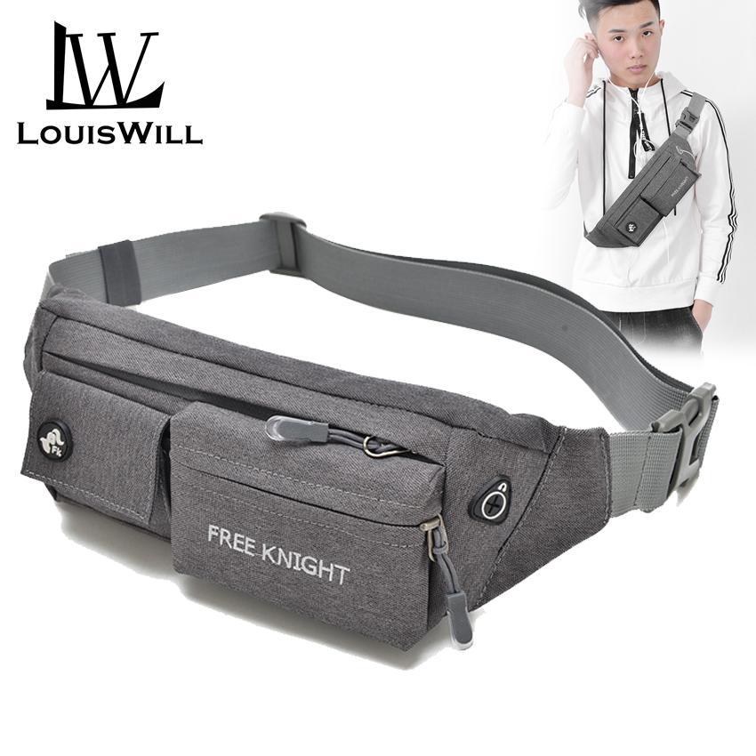 7212c536a LouisWill Sport Waist Pouch Bag Men Cross Body Bag Chest Bag Woman Nylon  Money& Phone Waist
